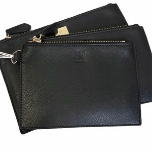 Jason Wu Black Leather Wallet Trio NEW WITH TAGS